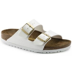 Arizona Birkenstock BNIB patent leather white
